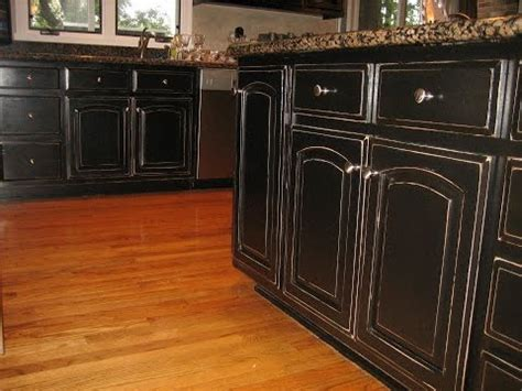How To Paint And Distress Cabinets by How To Distress Kitchen Cabinets With Chalk Paint