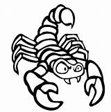 Scorpion Coloring Pages Animals Animal Printable Preschool Thecolor Sheet Insect Cartoon Worksheets sketch template