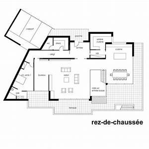 Plan Maison Contemporaine Toit Plat : plan maison architecte contemporaine mc immo ~ Nature-et-papiers.com Idées de Décoration