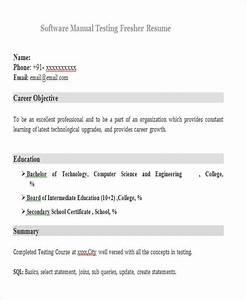 Resume Format For Testing Freshers