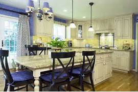 Yellow And Blue Kitchen Blue And Yellow Kitchens White Brown Oak Blue And Yellow Painted Kitchen Cabinet Stroovi Blue And Yellow Accents Kitchens Pinterest French Country Kitchen Blue And Yellow This French Country Kitchen
