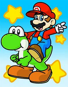 Mario and Yoshi by minimariodrawer on DeviantArt
