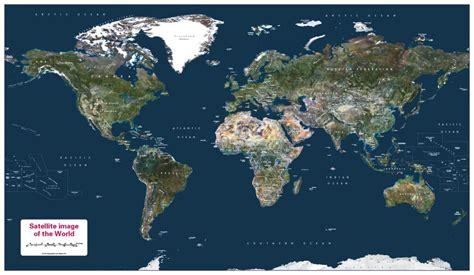 Personalised World Satellite Map - £33.99 : Cosmographics Ltd