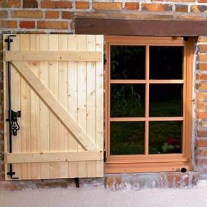 Volet Bois Castorama : volet battant en bois 1 vantail 80 x cm castorama ~ Melissatoandfro.com Idées de Décoration