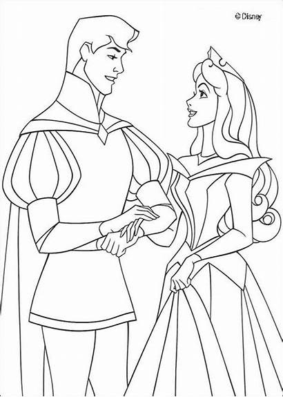Coloring Princess Pages Disney Sleeping Beauty Printable