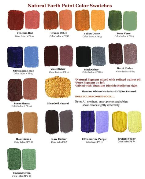 mix your own watercolors with earth colors recipe