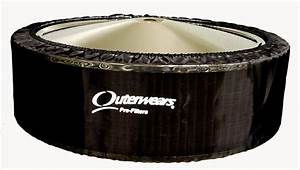 Outerwears Pre Filter Company Air Cleaner Pre-Filter Polyester Black 14u0026quot; Dia 3u0026quot;