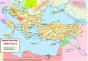 Archivo:Map Byzantine Empire 1045-es.svg - Wikipedia, la ...
