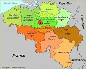 Carte Du Monde Liège : carte politique de la belgique ~ Teatrodelosmanantiales.com Idées de Décoration