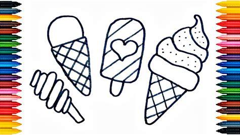 ice cream drawing ice cream coloring book fun painting ice