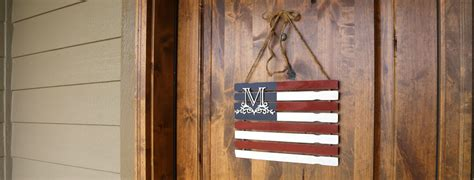 diy monogram paint stick flag craftcutscom
