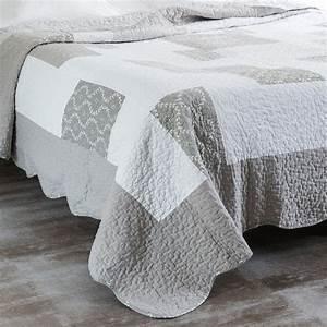 Tagesdecken 240 X 260 : quilt 2 kissenbez geaus leinen 240 x 260 cm grau maisons du monde ~ Bigdaddyawards.com Haus und Dekorationen