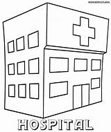Hospital Coloring Printable Pages Sheets Building Colorings Info sketch template