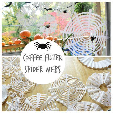 coffee filter craft ideas  images halloween diy