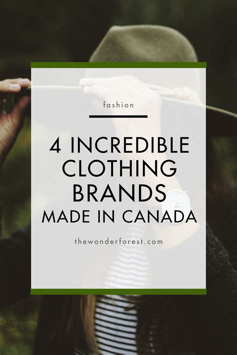 4 Incredible Clothing Brands Made In Canada  Wonder Forest