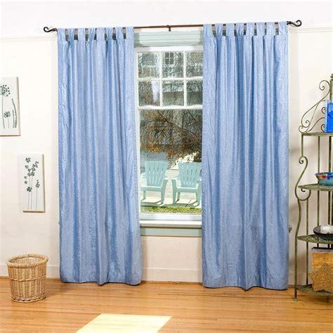 Tab Top Drapes by Light Blue Tab Top Velvet Curtain Drape Panel