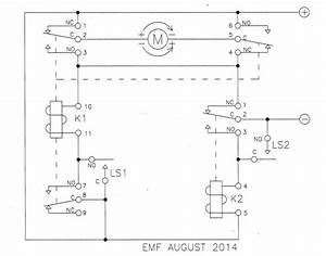 Relay - Limit Switches To Control Motor Direction - Electrical