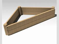 product detail Knot Garden Wooden Raised Bed Triangle