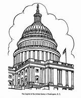 Coloring Buildings Dome Capitol Building Pages Washington Dc Colouring Sheet Landmarks Printables American Adult Usa Cities Drawing Symbols Map Historic sketch template