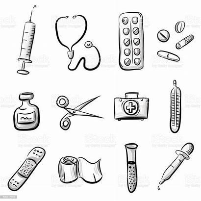Medical Icon Illustration Doctor Medicine Vector Capsule