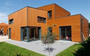Maison Bois Contemporaine : maison contemporaine ossature bois lyon maison contemporaine maison bbc contemporaine ~ Preciouscoupons.com Idées de Décoration