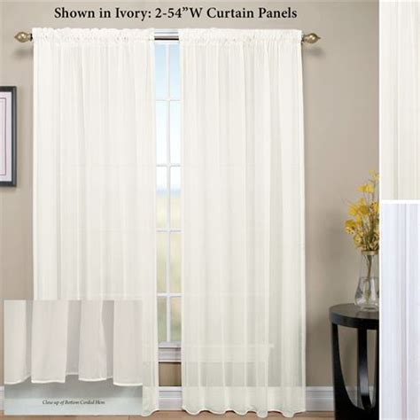 tergaline rod pocket sheer curtain panel