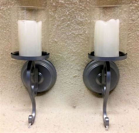 battery operated wall sconces with timer great home