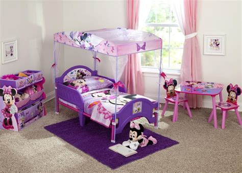 minnie mouse toddler canopy bed delta children