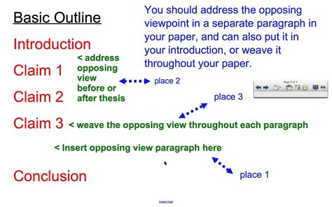 Structure  Planning Counterclaim Youtube