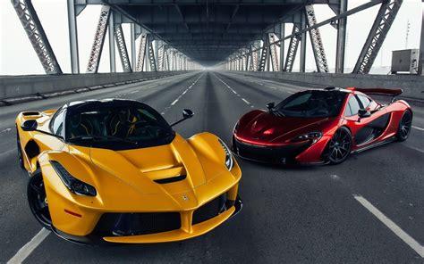 Mclaren P1, Ferrari Laferrari, Car, Bridge, Road