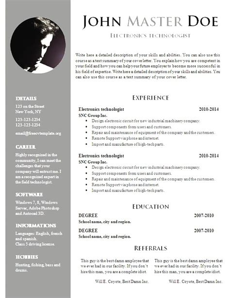 19785 free resume template bonito word doc resume templates im 225 genes colecci 243 n de