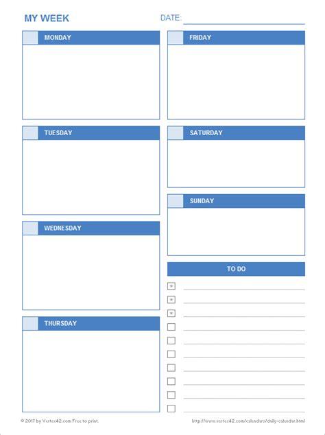 Daily Calendar Template 2018 Calendar Printable Free Templates Sle Web E