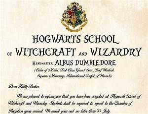 personalized hogwarts acceptance letter a magical gift With hogwarts acceptance letter amazon