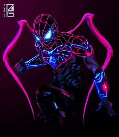 Spider Spiderman Neon Marvel Supreme Wallpapers Avengers