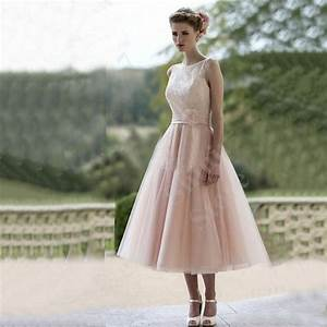 2015 a line short wedding dresses blush pink tulle wedding With pink tea length wedding dress