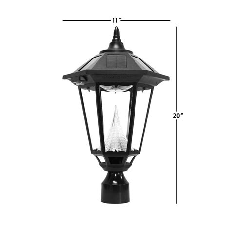Amazoncom  Gama Sonic Windsor Solar Outdoor Post Light
