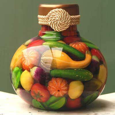 preserved fruit decorative jar    simple