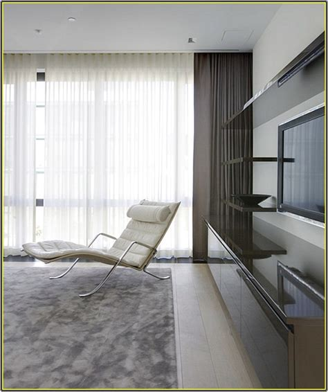 curtain and sheers on same rod home design ideas