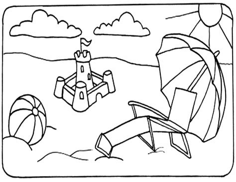 fun coloring pages beach coloring pages