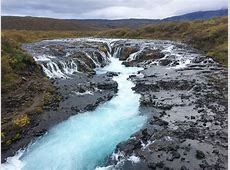 The Bluest Waterfall in Iceland Bruarfoss Meg Biram