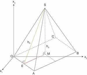 Pyramide Höhe Berechnen : aufgabe 3 abi 2015 mathe abitur lk cas nrw tipps ~ Themetempest.com Abrechnung