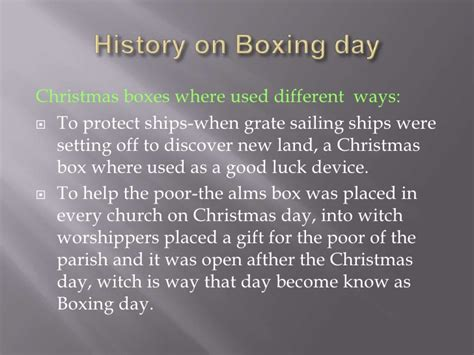 what is boxing day boxing day