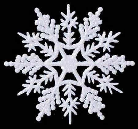 white glitter snowflake ornaments