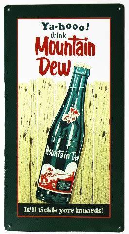 yahoo drink mountain dew metal sign soda cola pop coke pepsi hill billy classic logo