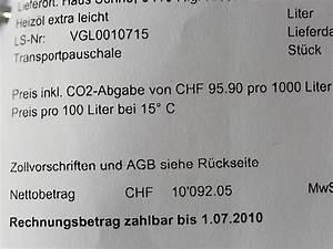 Heizöl Auf Rechnung : klimastiftung kann 2 5 millionen franken verteilen ~ Themetempest.com Abrechnung