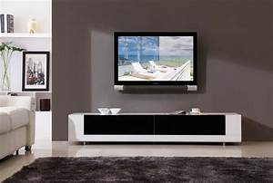 Ideas: Brown Wood Wall Mounted Tv Stand With Laminate Wood