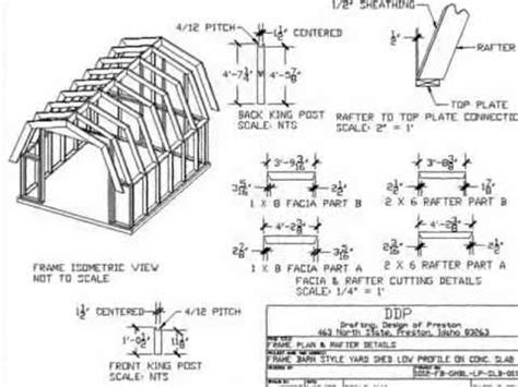 free gambrel shed plans 12x12 gambrel storage building plans pdf woodworking