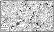 Paris Map Black And White