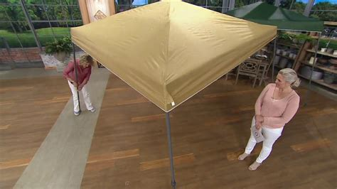 compass home ez open pop canopy height adjustment qvc youtube