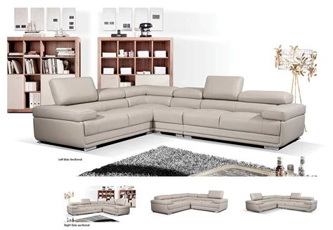 Sofas Sectionals Contemporary by Modern Gray Leather Sectional Sofa Ef119 Leather Sectionals